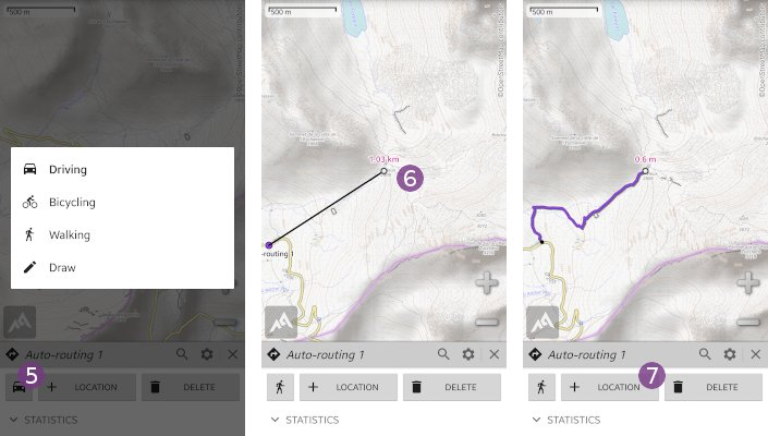 How to automatically draw a path along roads? - AlpineQuest